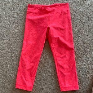 Under Armour women's capri leggings hot pink